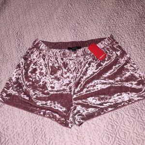 Forever 21 pink velvet shorts